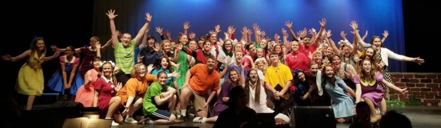 The cast of Youre a Good Man, Charlie Brown takes a much deserved final bow.