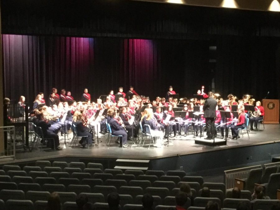 Platteview Band plays in District Music Contest.
