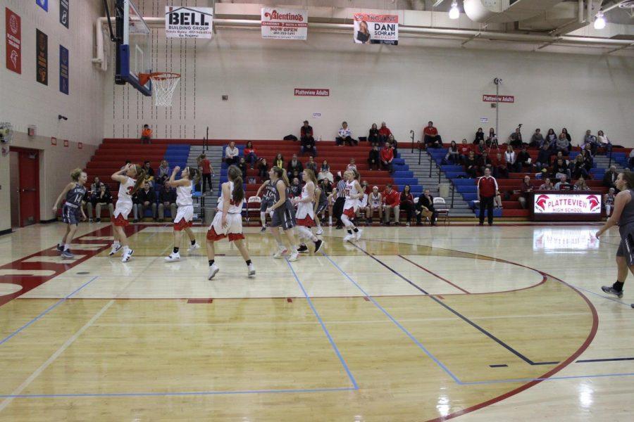 Senior Kaleigh Koehler rebounded the ball at her game on December 18th, 2018.