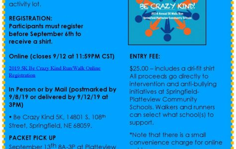 2nd Annual Be Crazy Kind 5K – Saturday, September 14th