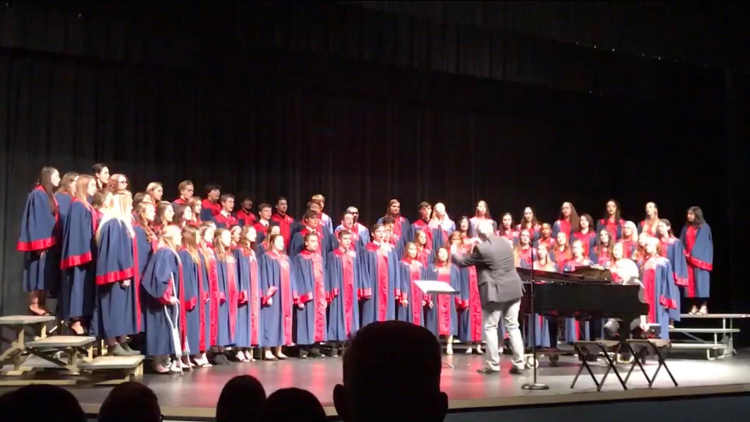 "The Platteview Concert Choir began their fall concert on October 28, 2019 with ""Come to the Music."""