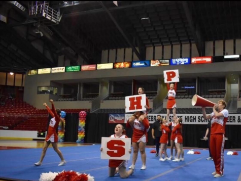 The Platteview Cheer Team competed in the Game Day category at Heartland Event Center on February 22.