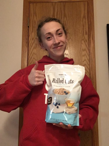 Senior Claire Kallhoff gives her stamp of approval to rolled oats. Watch her review video below to learn more about why they are a good food option and how to cook them.