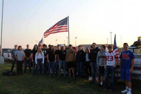 Platteview Students Fly Flags, Remembering 9/11
